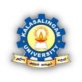 Kalasalingam Academy of Research and Higher Education  Virudhunagar